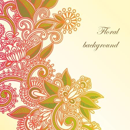 floral decoration: Floral background  Illustration