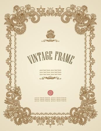 Vintage marco Ilustración de vector