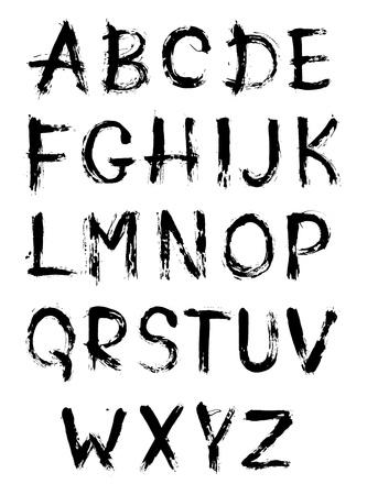 abecedario graffiti: Por boceto dibujado alfabeto Vectores
