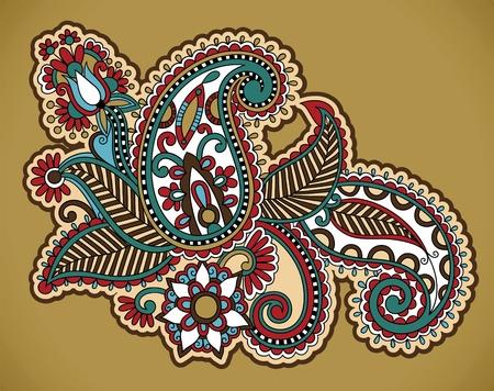 henna floral tattoo design, ornamental decorations  Vector