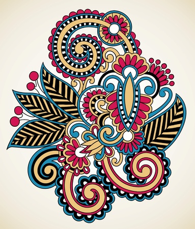 embellishments: henna floral tattoo design, ornamental decorations