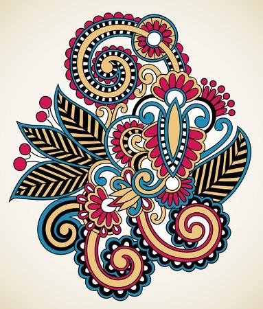 arabesque: tatuaggio all'henn� floreali, decorazioni ornamentali Vettoriali