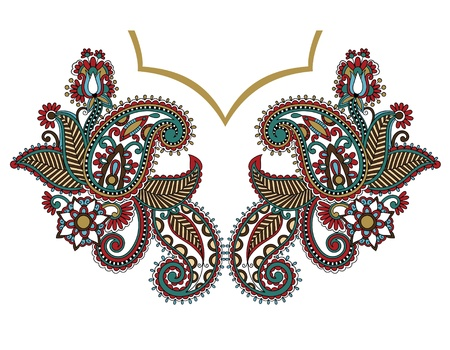 kashmir: Neckline embroidery fashion