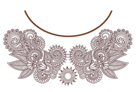 neckline: Neckline embroidery fashion