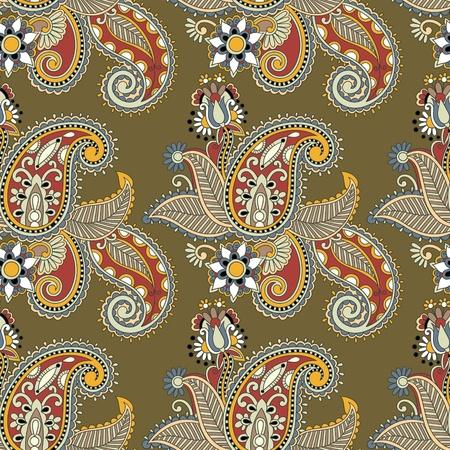 floral paisley: seamless pattern  Illustration