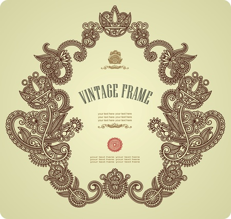 french label: Vintage marco Vectores