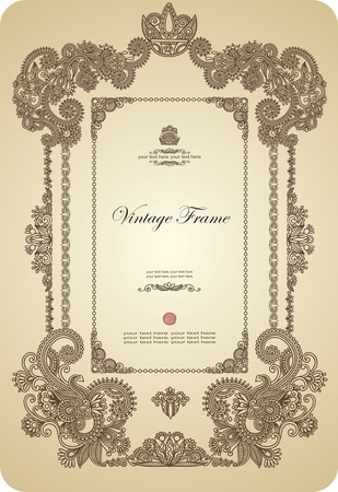 marriage certificate: Vintage frame