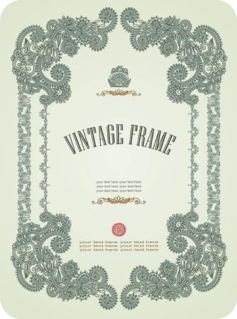 typographic: Vintage frame