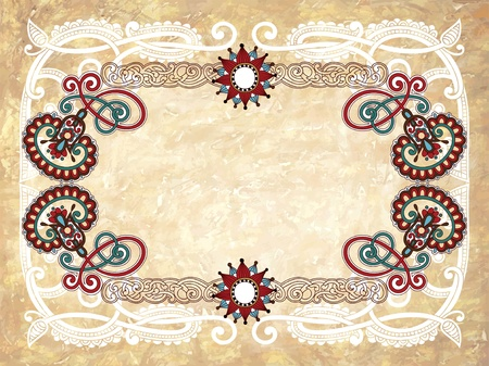 Vintage frame in grunge background  Vector