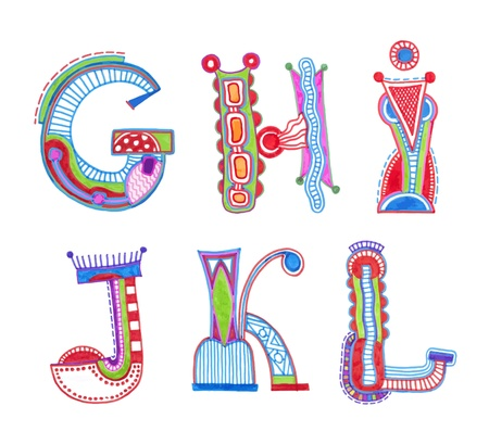 kids abc: ABC. vector font. Sketchy alphabet design
