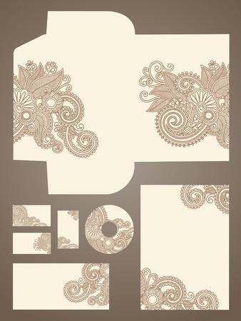 carta identit�: affari stile, illustrazione vettoriale