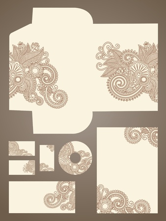 personalausweis: Business-Stil, Vektor-Illustration