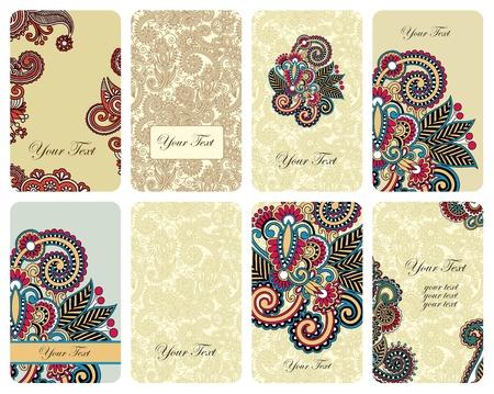 ornamental floral card set Stock Vector - 11189474