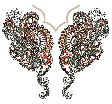 Neckline embroidery fashion