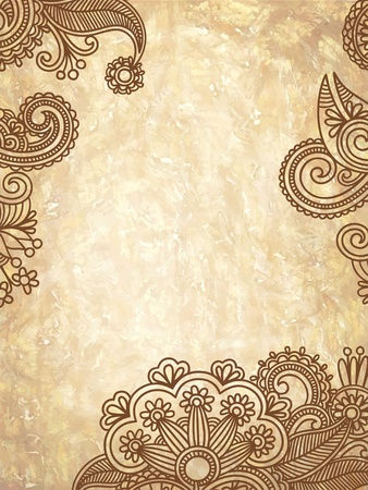 brown swirl: grunge abstract floral background with place for your text