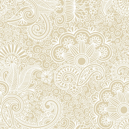 paisley background: vintage seamless pattern  Illustration