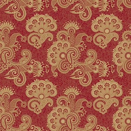henna pattern: vintage seamless pattern  Illustration
