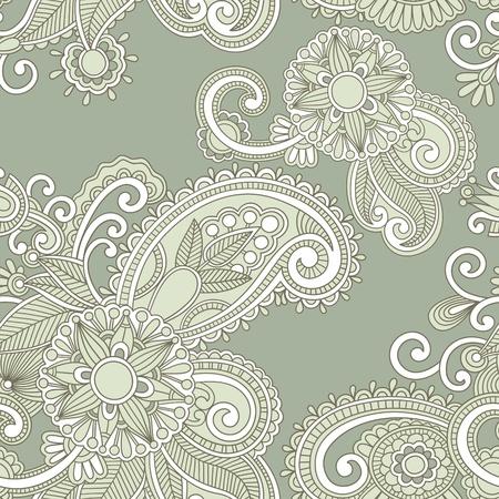paisley pattern: Vintage modèle sans couture