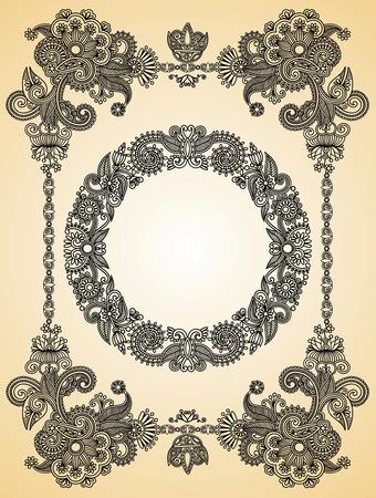 antiek behang: Vintage frame. Om te zien vergelijkbaar, bezoek mijn galerij