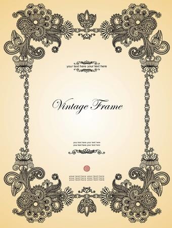 wine book: Vintage frame. To see similar, please visit my gallery