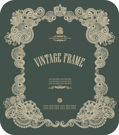 Vintage frame. To see similar, please visit my gallery Vector