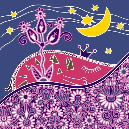 good night: buena noche de composici�n abstracta