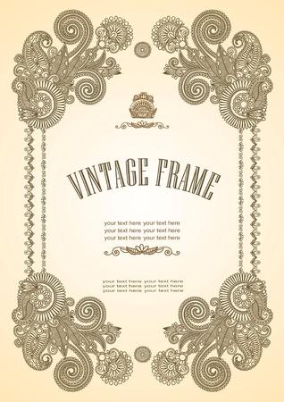 wine book: Vintage frame