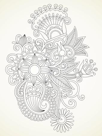 henna design: mano de la cuerda henna floral abstracto mendie elemento de dise�o Vectores