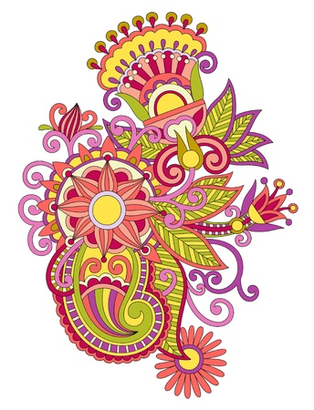 Beautiful flower design element. Ukrainian traditional style Vector