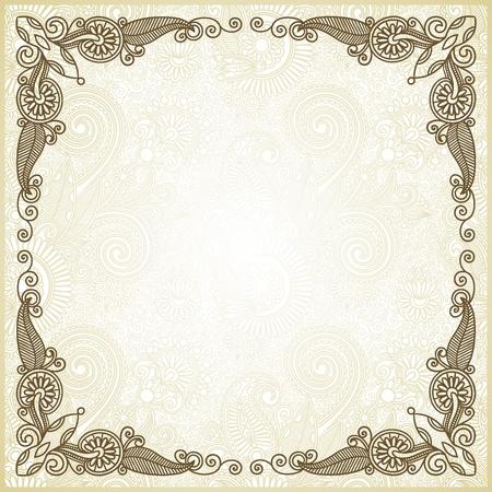 certificate background: ornate floral frame