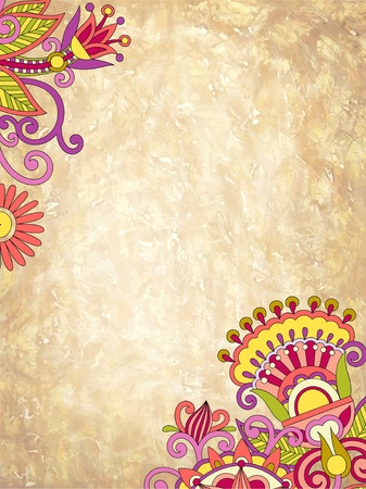 floral ornate background with place for your text  Vector