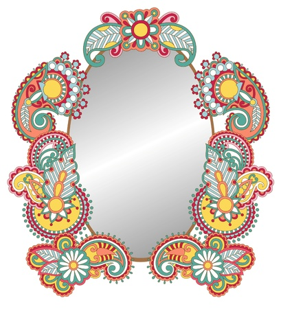 Colored abstract vintage frame  Vector