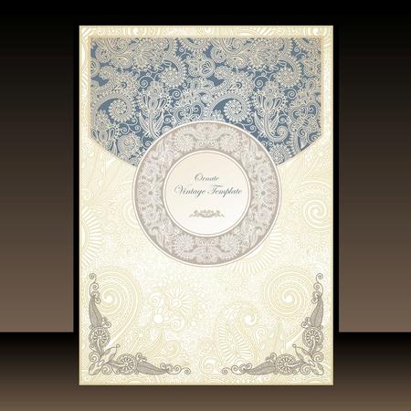 Flayer ornate floral design  Stock Vector - 11189684