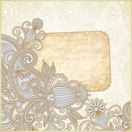 frame ornate card announcement  Vector