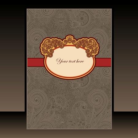 presentation folder: ornate floral design