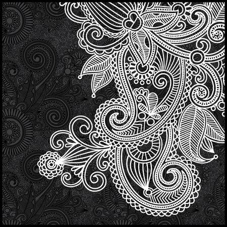 검은 색과 흰색 꽃 패턴