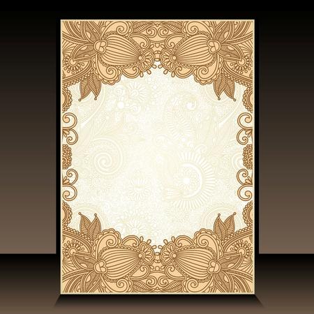 flayer: Flayer ornate floral design