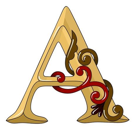abc calligraphy: original vector hand drawn alphabet