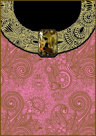 karat: luxury vintage background with jewel  Illustration