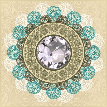 floral background with diamond jewel Stock Vector - 11189745