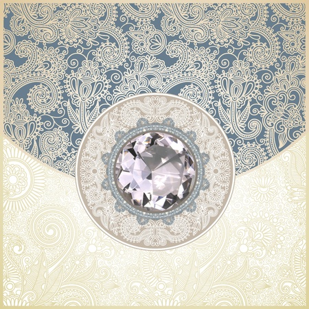 royalty: floral background with diamond jewel