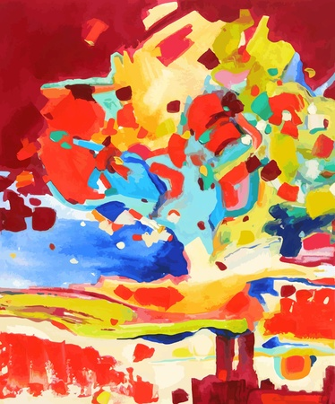 abstract paintings: oil painting vector illustration. I, the Artist, owns the copyright