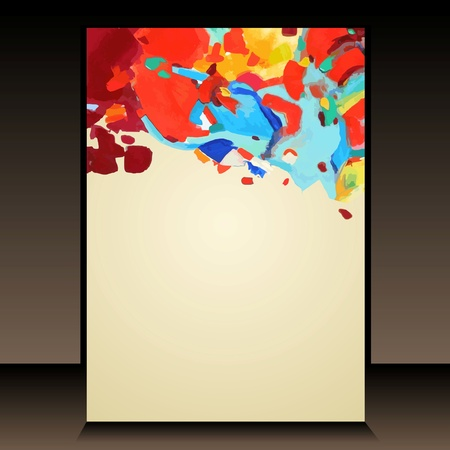 acrylic painting: abstract acrylic painting background  Illustration