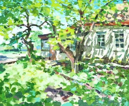 illustration vectorielle peinture à l'huile. I, l'artiste, détient les droits d'auteur