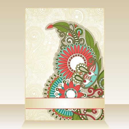 Flayer ornate floral design Stock Vector - 11189686