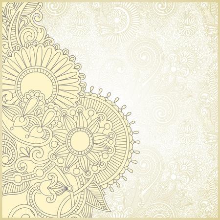 floral decoration: ornate card announcement  Illustration