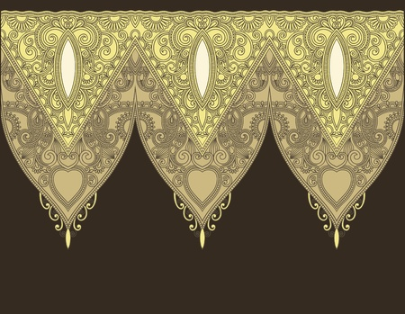Ornamental seamless stripe, decorative element  Vector