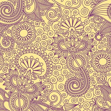 disegno cachemire: Vintage seamless Vettoriali