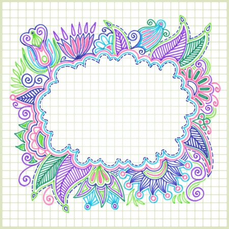 hand draw doodle vector frame element  Vector