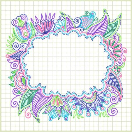 whimsical: hand draw doodle vector frame element  Illustration